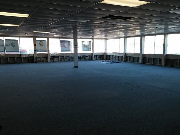 Here is the future council chambers.  The large open area is at the front of the building.
