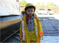 Open House - Little Boy Dressed as Fireman