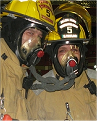 Fireman Training with Masks